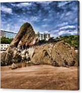 Goscar Rock Tenby 4 Painted Canvas Print