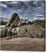 Goscar Rock Tenby 4 Canvas Print