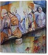 Gossip Bench Canvas Print
