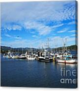 Government Wharf In Sooke Harbour Canvas Print