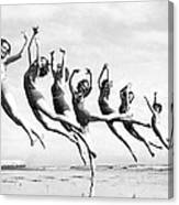 Graceful Line Of Beach Dancers Canvas Print