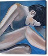 Gracefully Blue Canvas Print