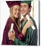 Graduation Couple Canvas Print