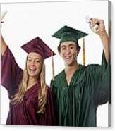 Graduation Couple V Canvas Print