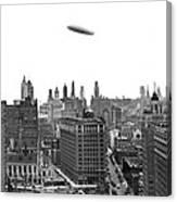 Graf Zeppelin Over Chicago Canvas Print