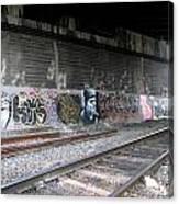 Graffiti - Under Over Railyard Canvas Print