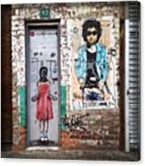 Graffiti Artist Canvas Print