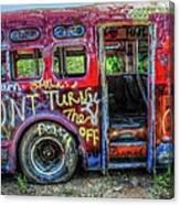 Graffiti Bus Canvas Print