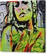 Graffiti Nude Canvas Print