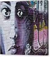 Graffiti Permission Wall Canvas Print