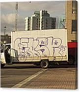 Graffiti Truck Canvas Print