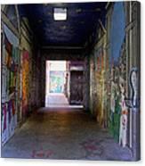 Graffiti Walkway Canvas Print