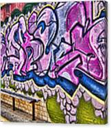 Graffitti-lets Gambl Make Dollars Canvas Print