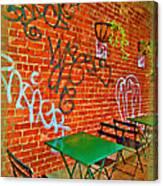 Grafitti Dining Canvas Print