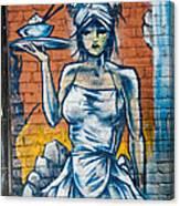 Grafitti Wall Canvas Print