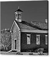 Grafton Schoolhouse - Bw Canvas Print