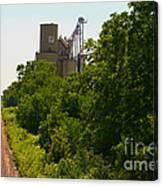 Grain Processing Facility In Shirley Illinois 5 Canvas Print