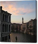 Grand Canal At Dusk Canvas Print
