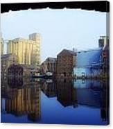 Grand Canal, Dublin, Co Dublin, Ireland Canvas Print