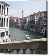 Grand Canal From A Bridge Canvas Print