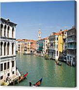 Grand Canal With Gondola  Venice Canvas Print