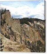 Grand Canyon Cliff In Yellowstone Canvas Print