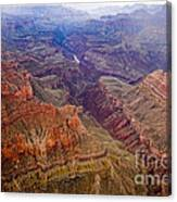 Grand Canyon Morning Scenic View Canvas Print