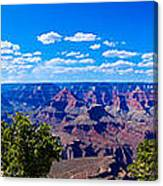 Grand Canyon Panorama White Canvas Print