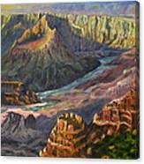 Grand Canyon Shadows Canvas Print