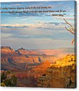 Grand Canyon Splendor - With Quote Canvas Print