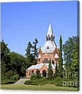 Grand Chapel In Central Cemetery Szczecin Poland Canvas Print