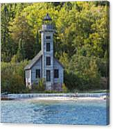 Grand Island E Channel Lighthouse 3 Canvas Print