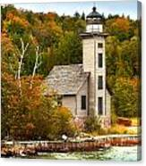 Grand Island Lighthouse No.1442 Canvas Print