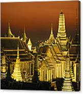 Grand Palace And Temple Of The Emerald Canvas Print