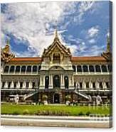 Grand Palace Chakri Mahaprasad Hall Front View Bangkok Canvas Print