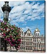 Grand Place Flowers Canvas Print