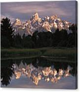 Grand Teton Range And Cloudy Sky Canvas Print