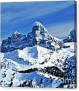 Grand Teton Winter Canvas Print