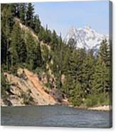 Grand Tetons From Snake River Canvas Print