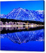 Grand Tetons In Blue Canvas Print