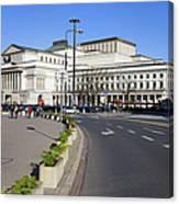 Grand Theatre In Warsaw Canvas Print