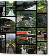 Grand Union Canal Collage Canvas Print
