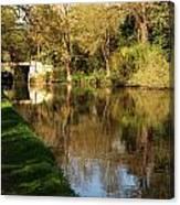 Grand Union Canal Near Denham Canvas Print