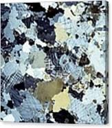Granite Rock, Light Micrograph Canvas Print