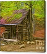 Granny's Little Cabin Canvas Print
