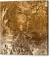 Grants Canal, 1862 Canvas Print