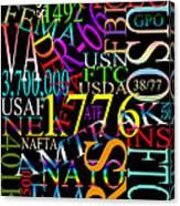 Graphic America 1 Canvas Print