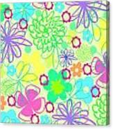 Graphic Flowers Canvas Print
