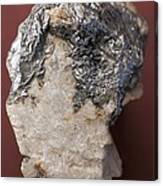 Graphite On Calcite Crystals Canvas Print