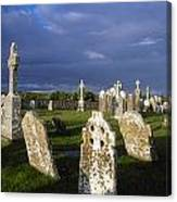 Graveyard, Clonmacnoise, County Offaly Canvas Print